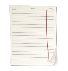 Stripped notebook paper cartoon vector