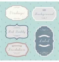 set of vintage retro labels frames vector image