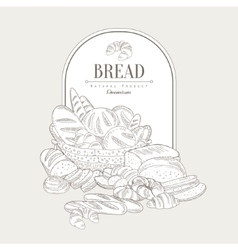 Bread banner vector