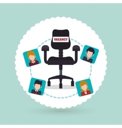 Human resources icon design vector