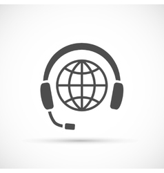 Earth with headphones vector
