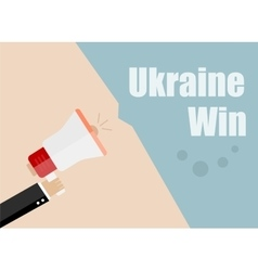 Ukraine win flat design business vector
