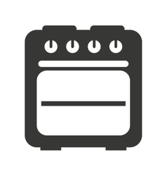 Oven isolated icon design vector