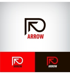 Abstract arrow logo line pointer vector