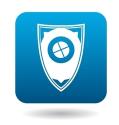 Protective shield icon simple style vector