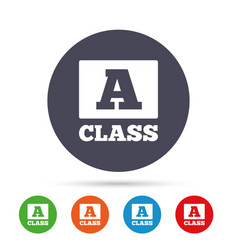 a-class sign icon premium level symbol vector image