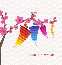 Abstract chinese new year lantern and background vector