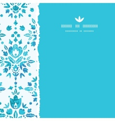 Abstract Flower Damask Square Torn Seamless vector image