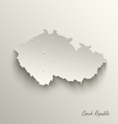 Abstract map Czech Republic template vector image vector image