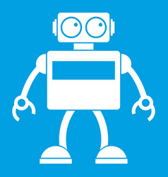 Android robot icon white vector