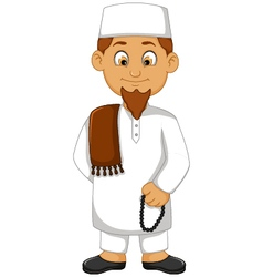Cartoon religious leader vector