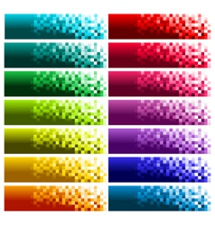 Colorful Pixel Banners vector image vector image