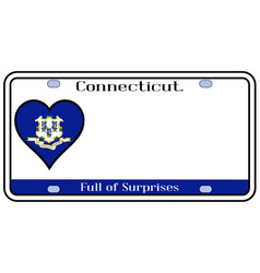 Connecticut license plate vector