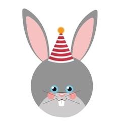 Cute rabbit flat icon vector image vector image