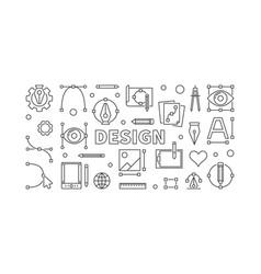 Design horizontal outline vector