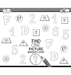 Educational activity for coloring vector