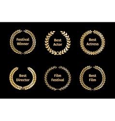 Film awards wreaths vector image vector image