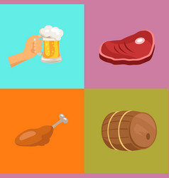 four images at octoberfest vector image vector image