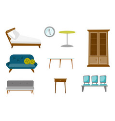 furniture cartoon set vector image vector image
