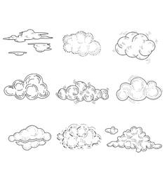 Hand Drawn Cloud Set vector image vector image
