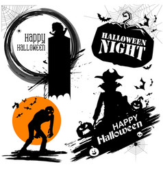 happy halloween holiday design element vector image