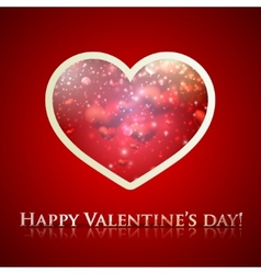 happy valentines day holiday background with heart vector image vector image