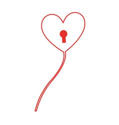 Heart love balloon air vector