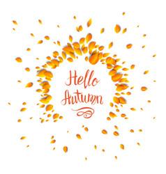 hello fall card vector image