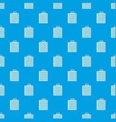 Honeycomb pattern seamless blue vector