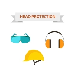 Industrial protective workwear head protection vector