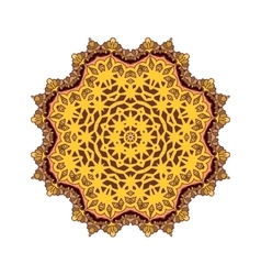 Mandala Round ornament patter vector image vector image