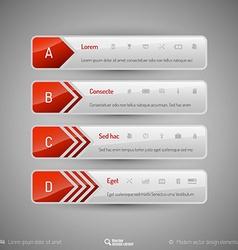 Modern tabs as design elements Business symbols vector image vector image