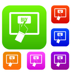 online shopping set collection vector image