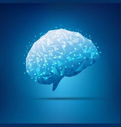 polygon brain vector image