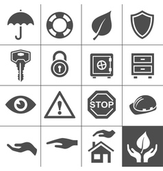 Protection icons Simplus series vector image