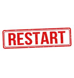 Restart grunge rubber stamp vector
