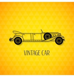 Retro limousine cabriolet car vintage outline vector