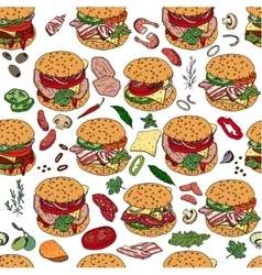 Seamless pattern with different burgers vector image