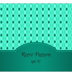 Seamless Teal Pattern vector image vector image