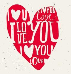 Set of labels for design love vector image