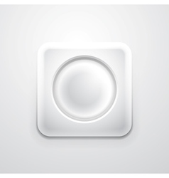 White mobile app icon with empty circle vector image vector image