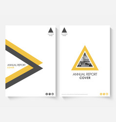 Yellow cover design template for annual report vector