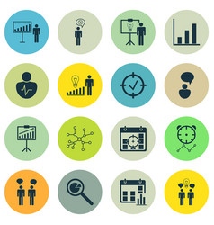 Set of 16 administration icons includes approved vector