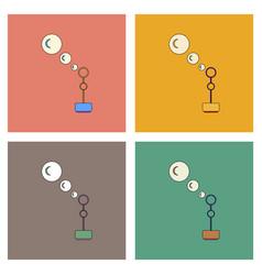 Flat icon design collection bubble stick vector