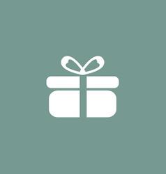 Present icon simple vector
