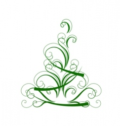 Stylized christmas tree isolated vector