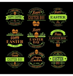 Set easter holiday typography vector