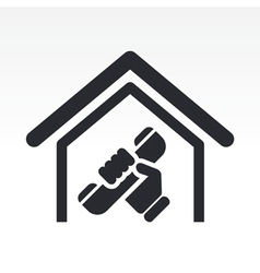 House phone icon vector