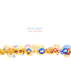 Abstract emoji background with mixed smiley vector