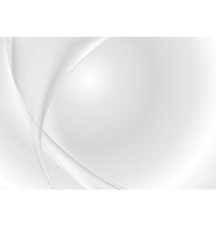 Abstract grey pearl waves vector image vector image